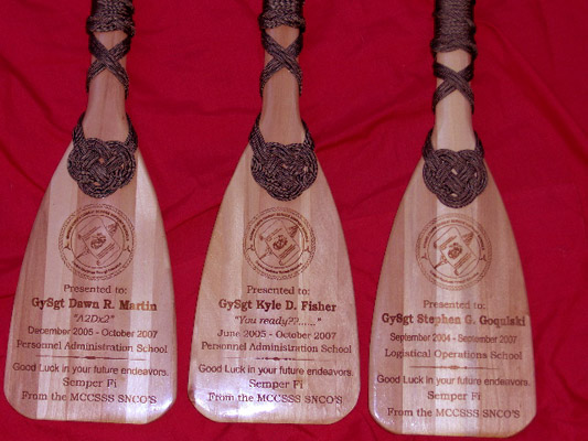 USMC Oar Plaques From The Nautical Realm